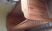 Pine cot and travel cot for sale